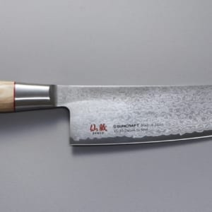 Santoku 167mm, twisted octagon, grønnsakskniv santoku, to-04, suncraft twisted octagon,